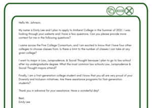 Sample Letter Of Interest For College Admission from prepory.com
